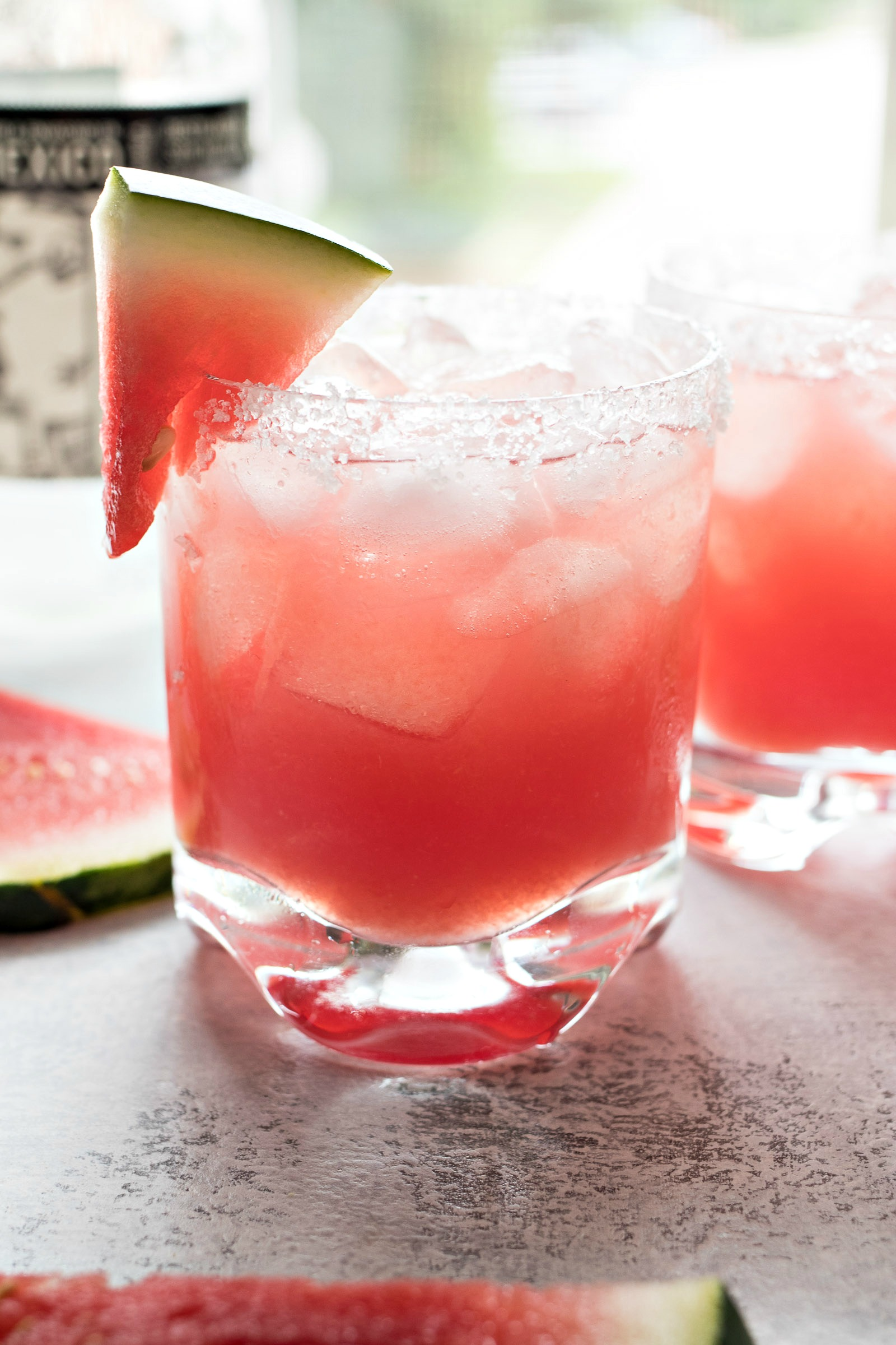 Closeup of a Watermelon Margarita
