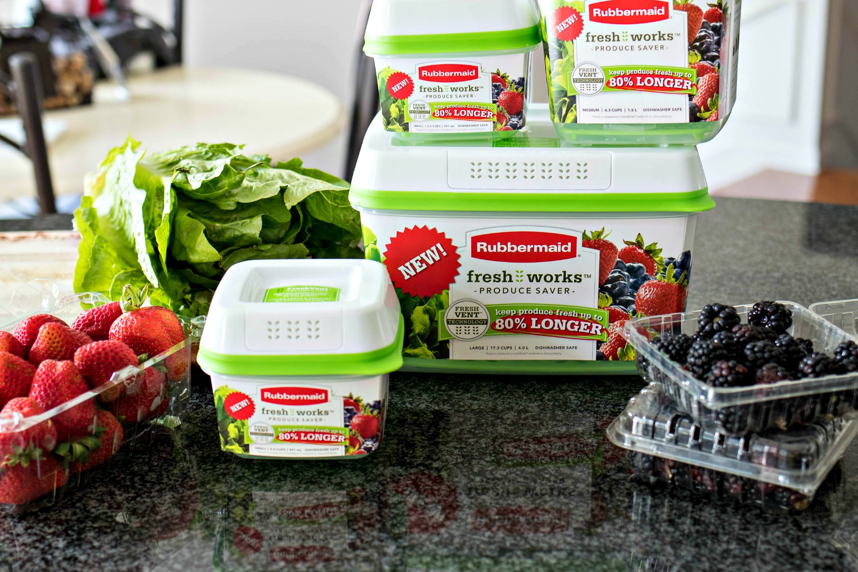 Freshworks produce savers in various sizes