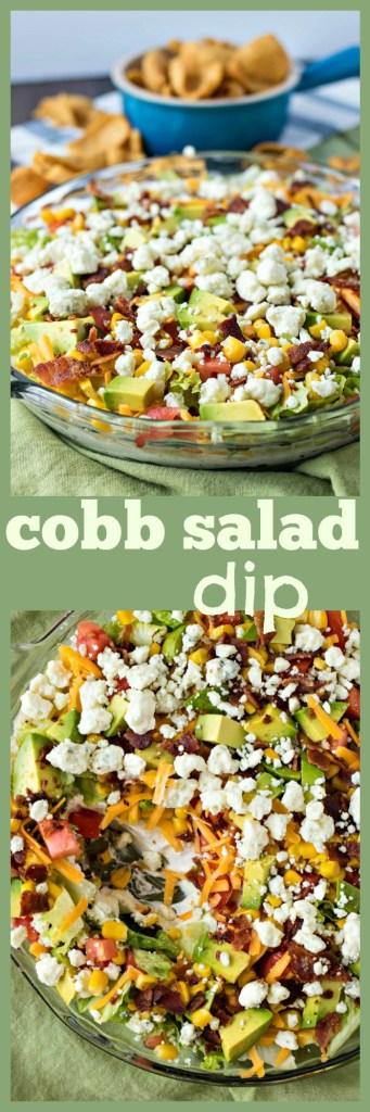 Cobb Salad Dip photo collage