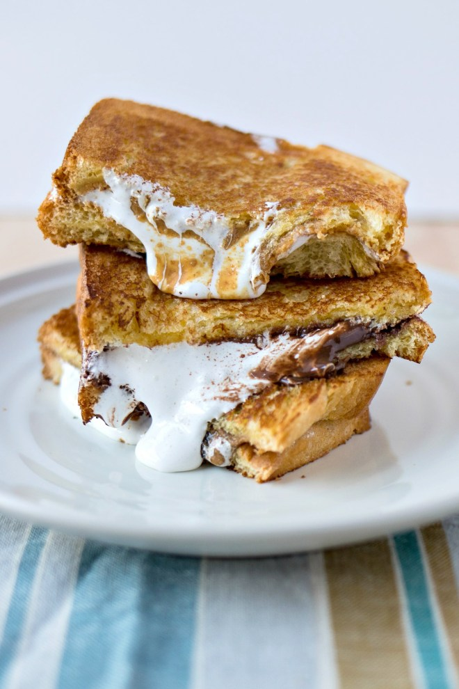 Fluffernutter Sandwich Three Ways - Marshmallow fluff and peanut butter come together to make the ultimate sweet sandwich. In this recipe, we use three different kinds of peanut butter from Peanut Butter & Co: Mighty Maple, Cinnamon Raisin Swirl, and Dark Chocolate Dreams