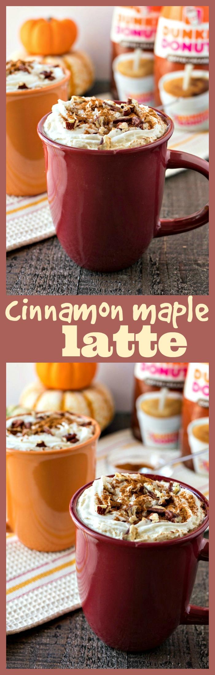 Cinnamon Maple Latte photo collage