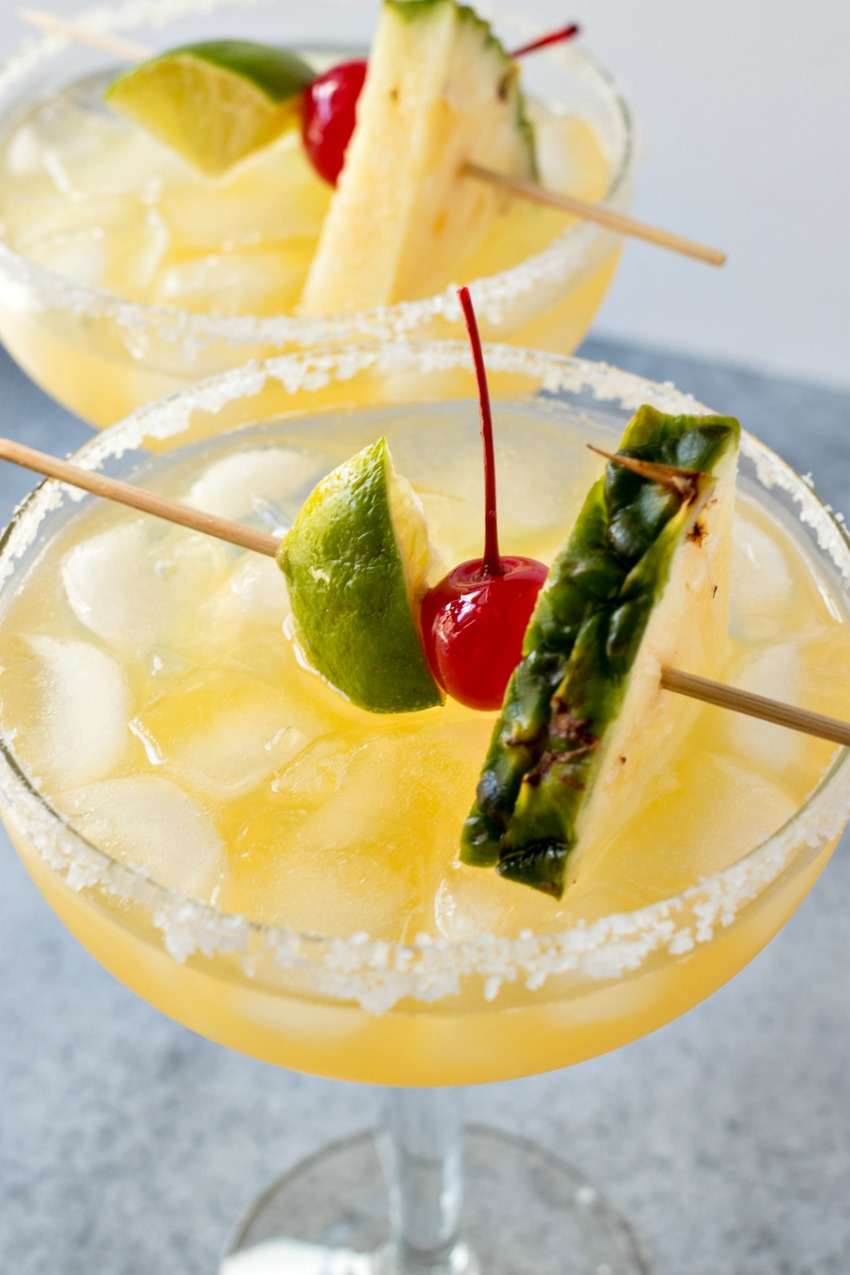 Tropical Red Bull Margaritas close up