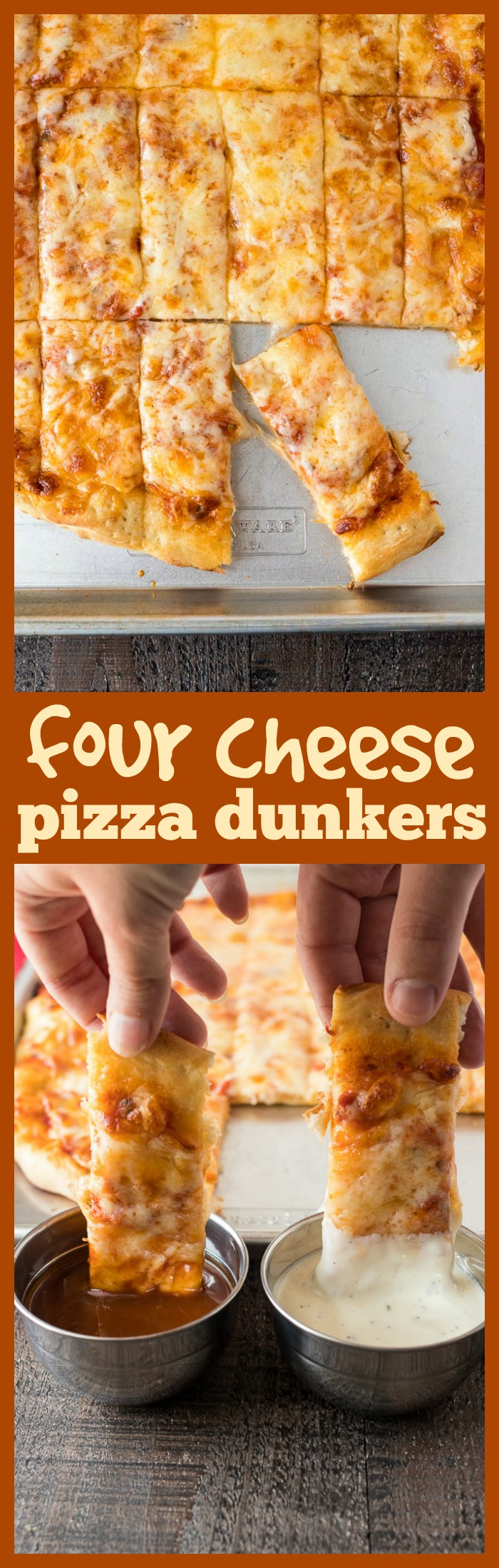 Four Cheese Pizza Dunkers photo collage
