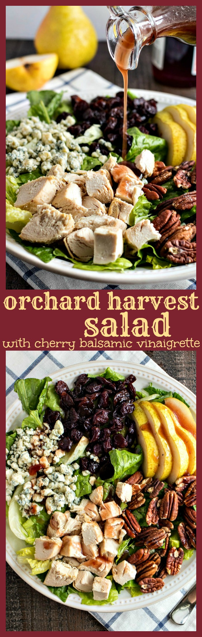 Orchard Harvest Salad  photo collage