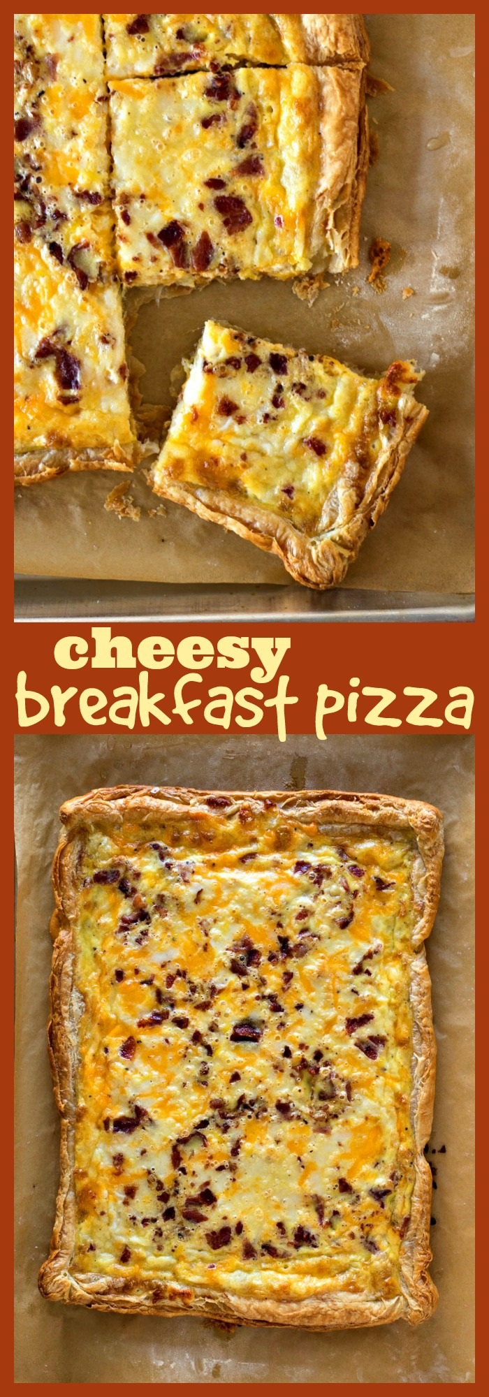 Breakfast Pizza photo collage