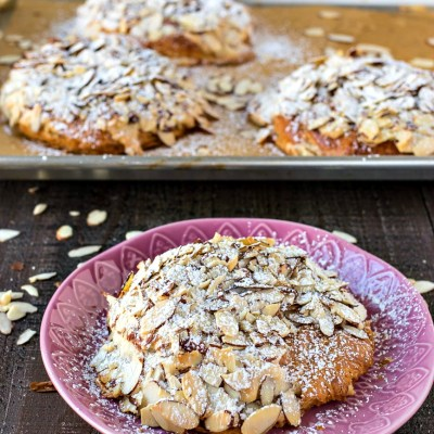 Almond Croissants – Store-bought butter croissants are transformed into rich, flavorful almond croissants with the addition of almond syrup and almond cream.