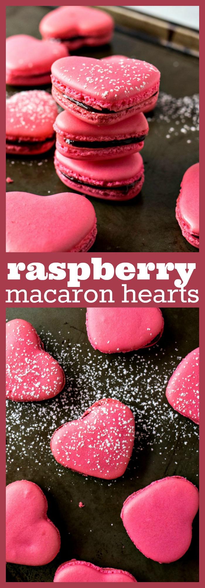 Raspberry Macaron Hearts photo collage