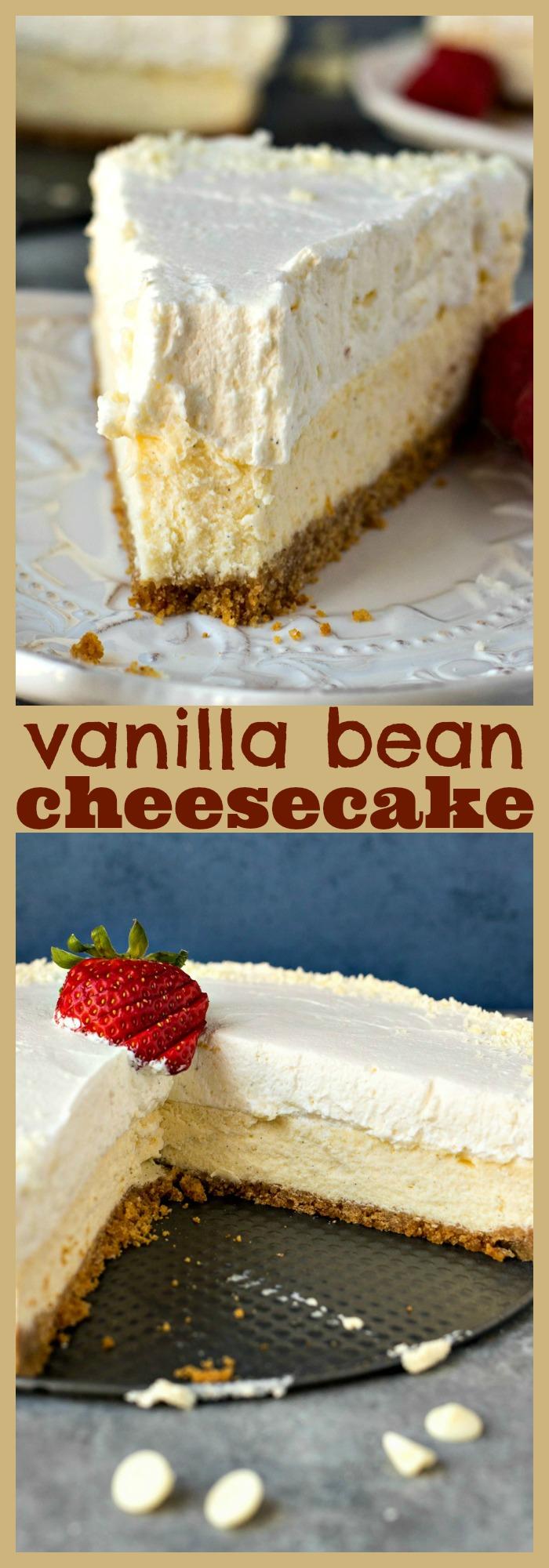 Vanilla Bean Cheesecake photo collage