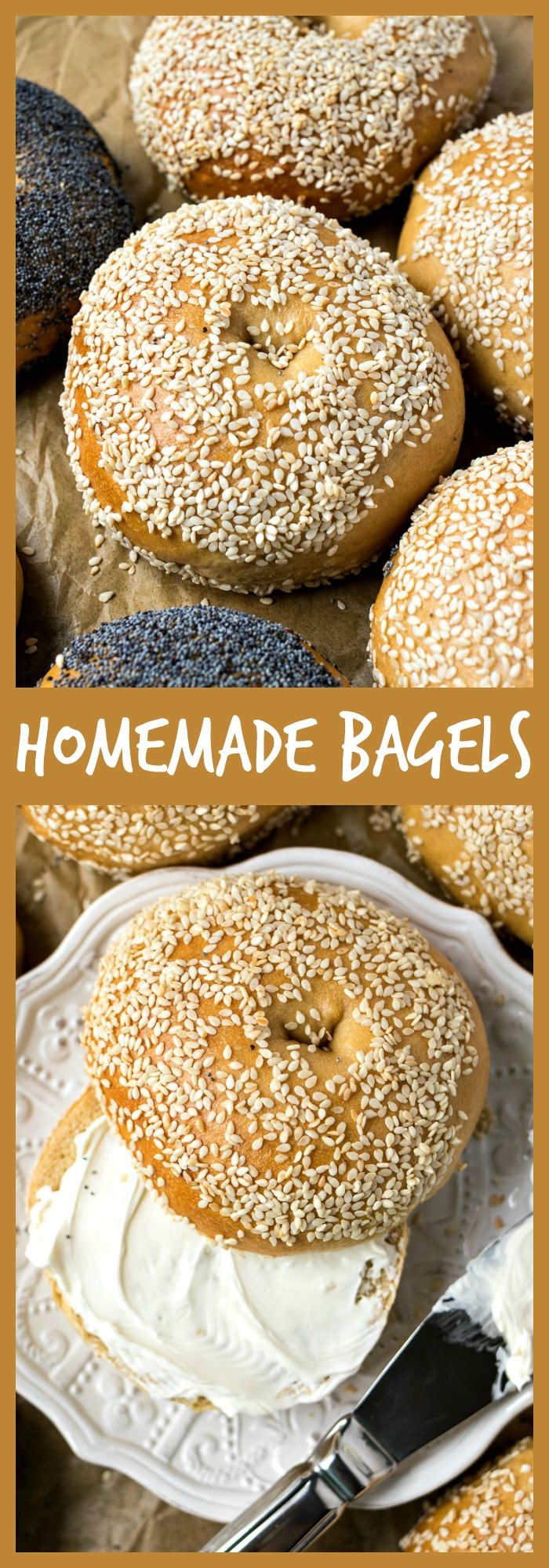 Homemade Bagels photo collage