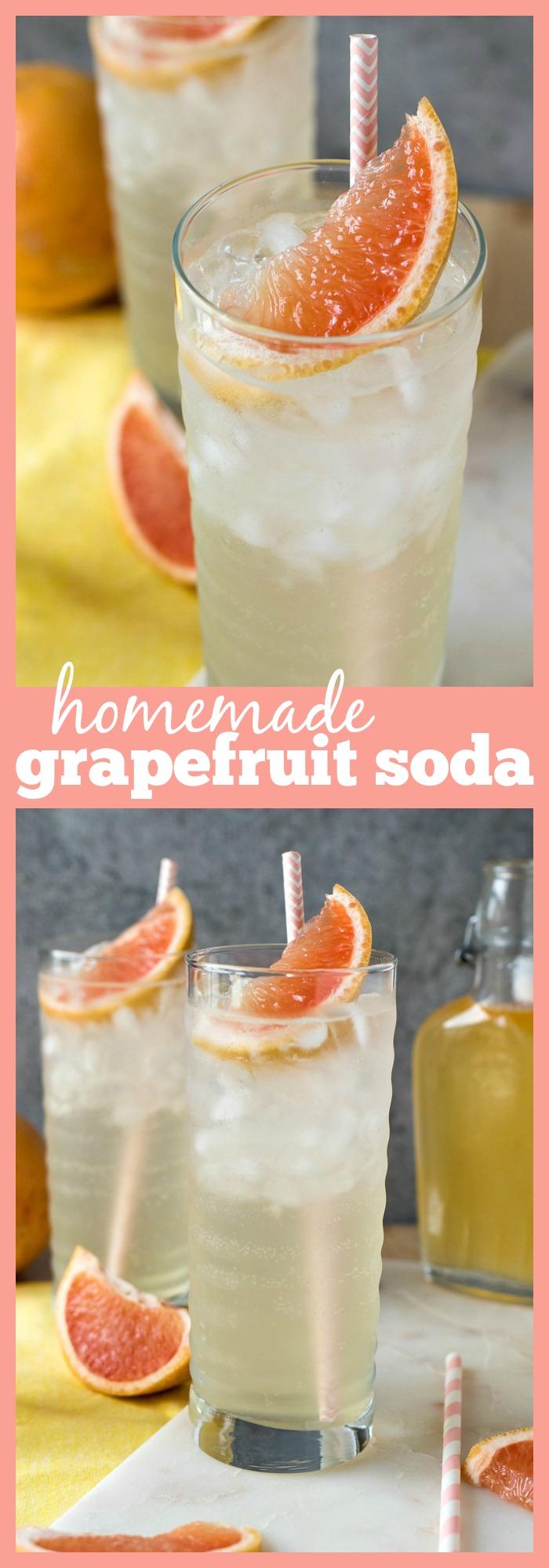 Homemade Grapefruit Soda collage