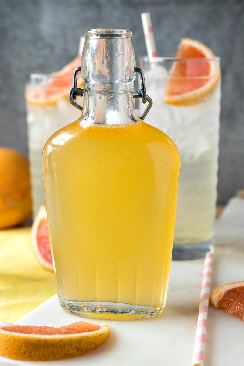 jar of grapefruit syrup