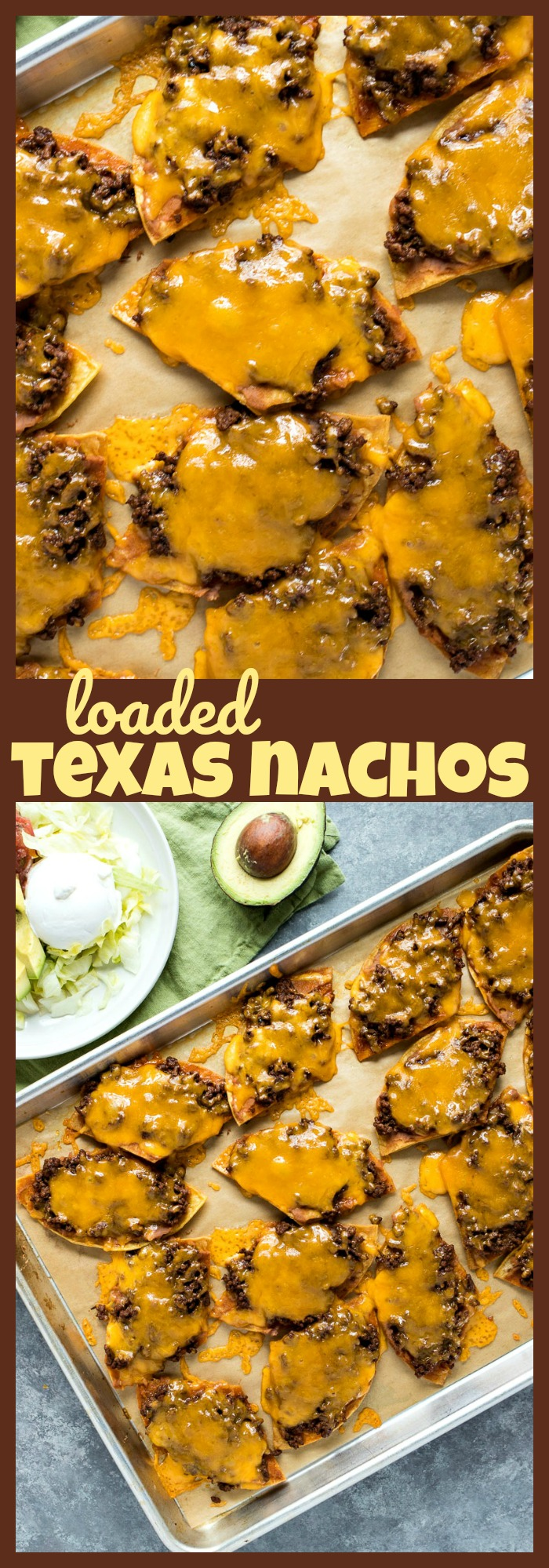 Loaded Texas Nachos photo collage