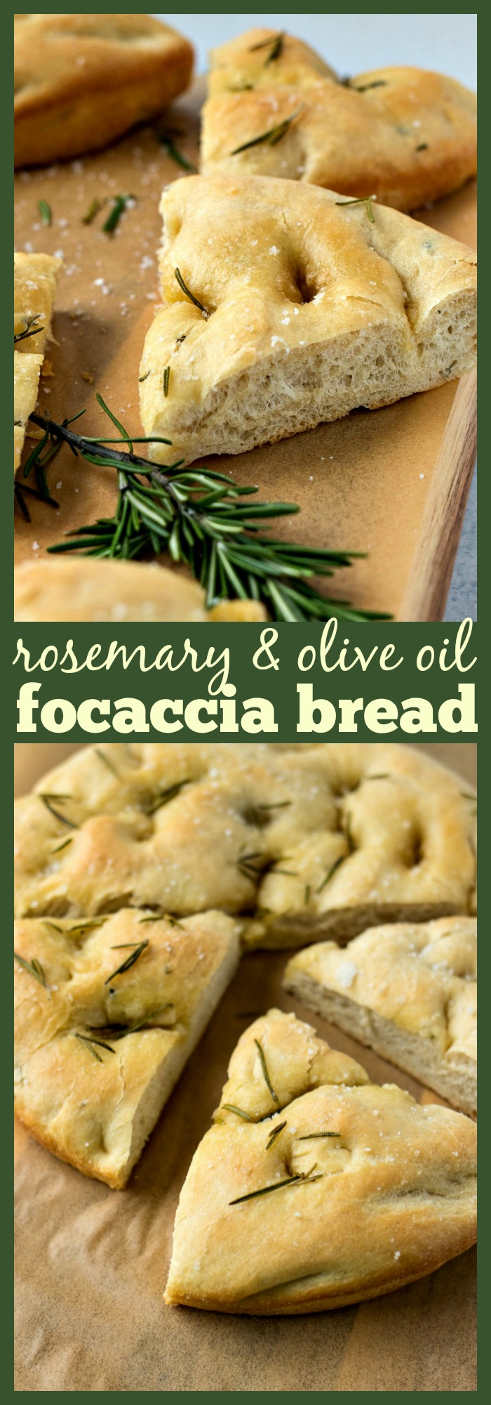 Rosemary & Olive Oil Focaccia Bread photo collage