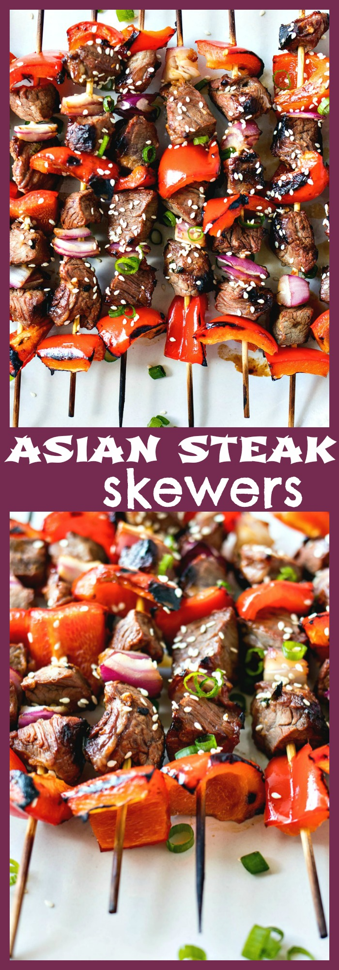 Asian Steak Skewers photo collage