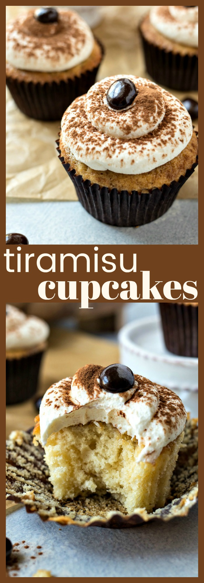 Tiramisu Cupcakes photo collage