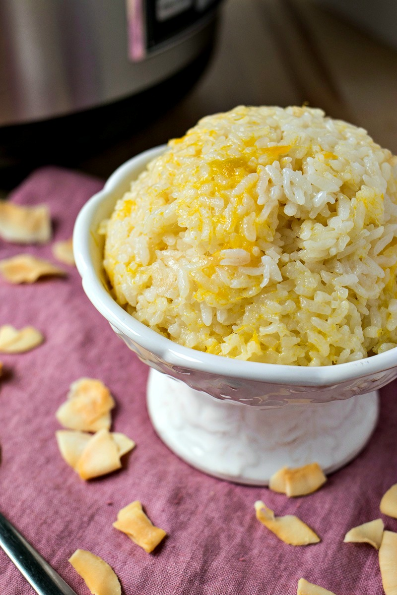Bowl of Mango Coconut Sticky Rice