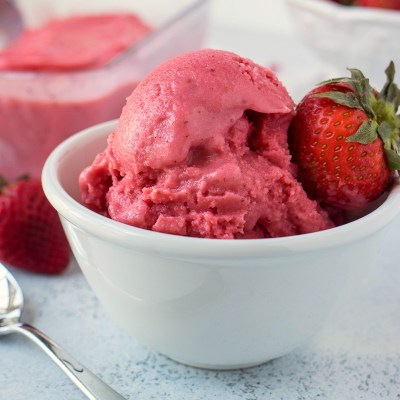Strawberry Coconut Sorbet