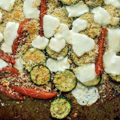 Easy Sheet-pan Zucchini Gratin