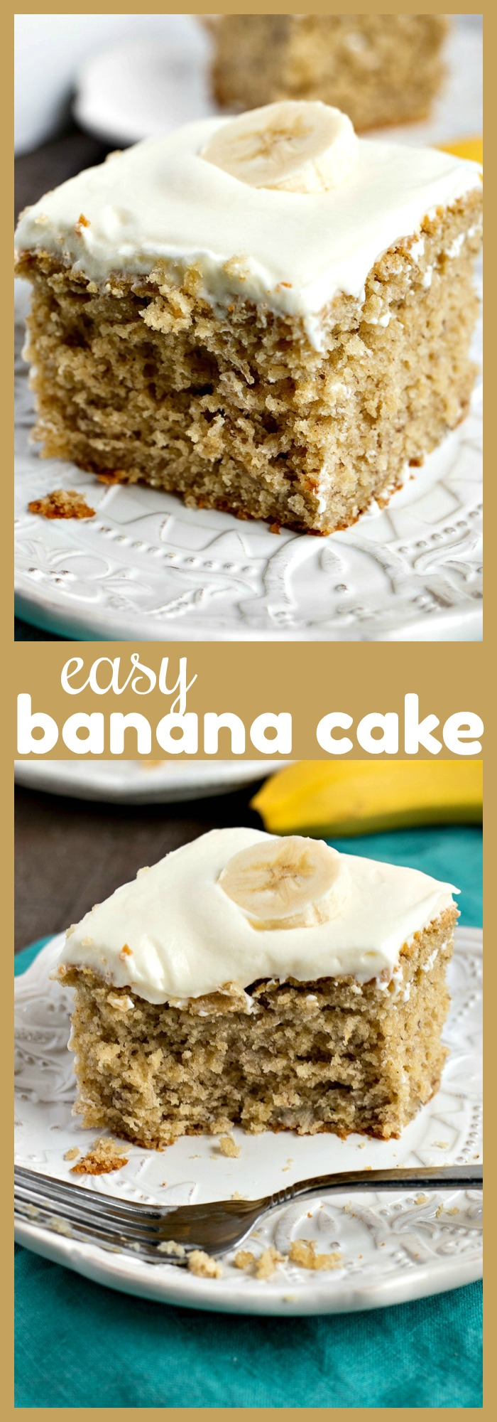 Easy Banana Cake photo collage