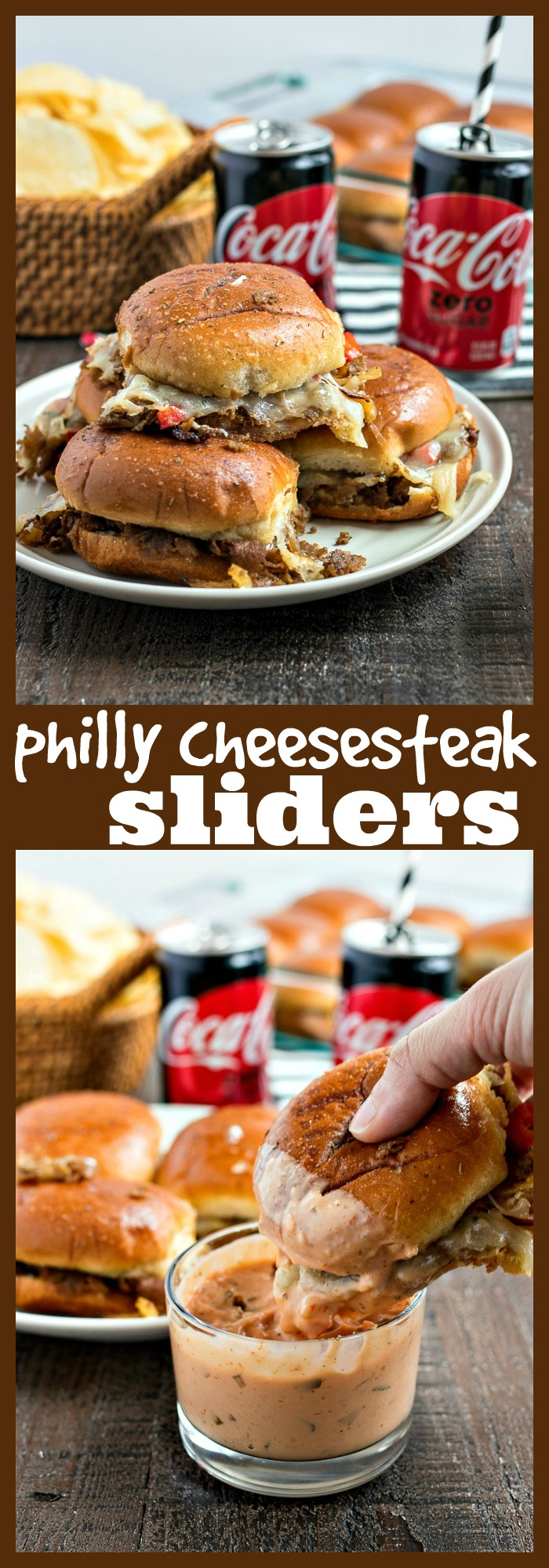 Philly Cheesesteak Sliders photo collage