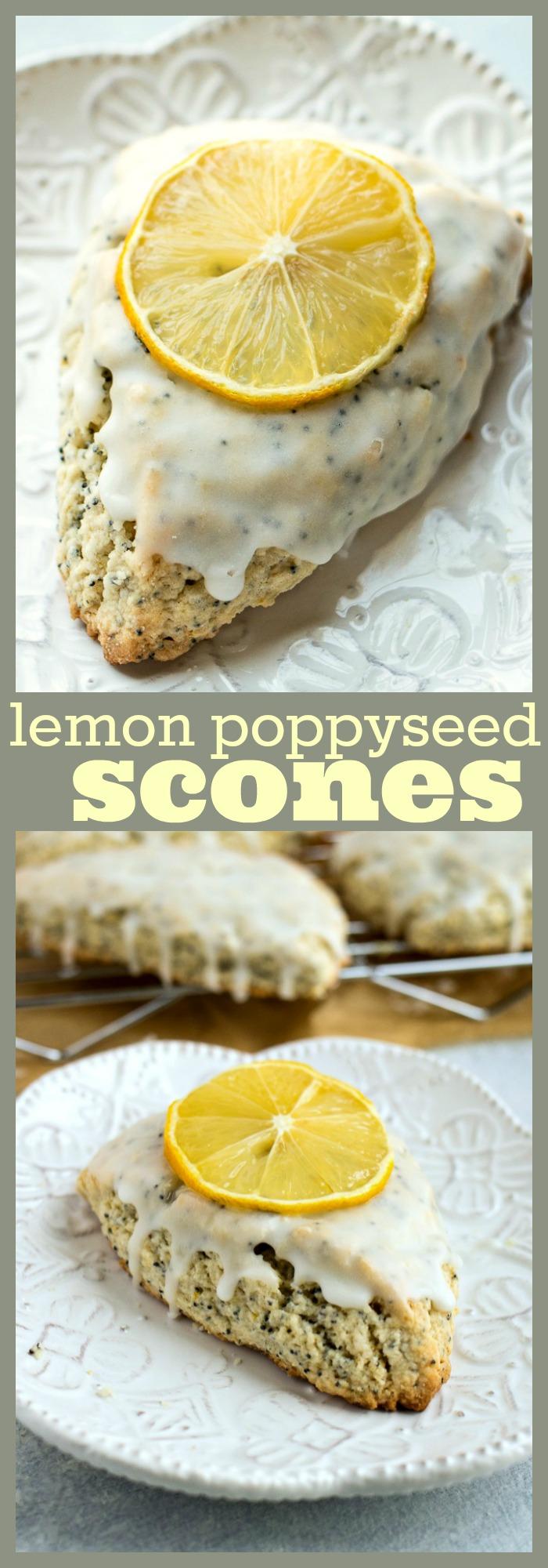 Lemon Poppyseed Scones photo collage