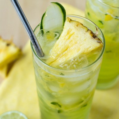 Cucumber Pineapple Gin Refresher