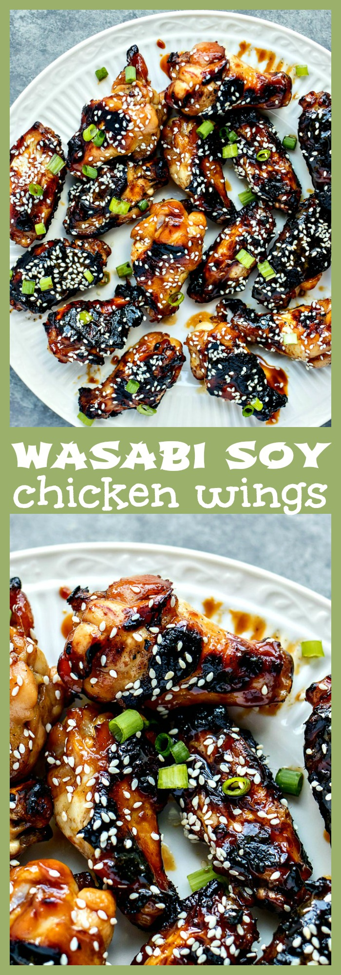 Wasabi Soy Wings photo collage