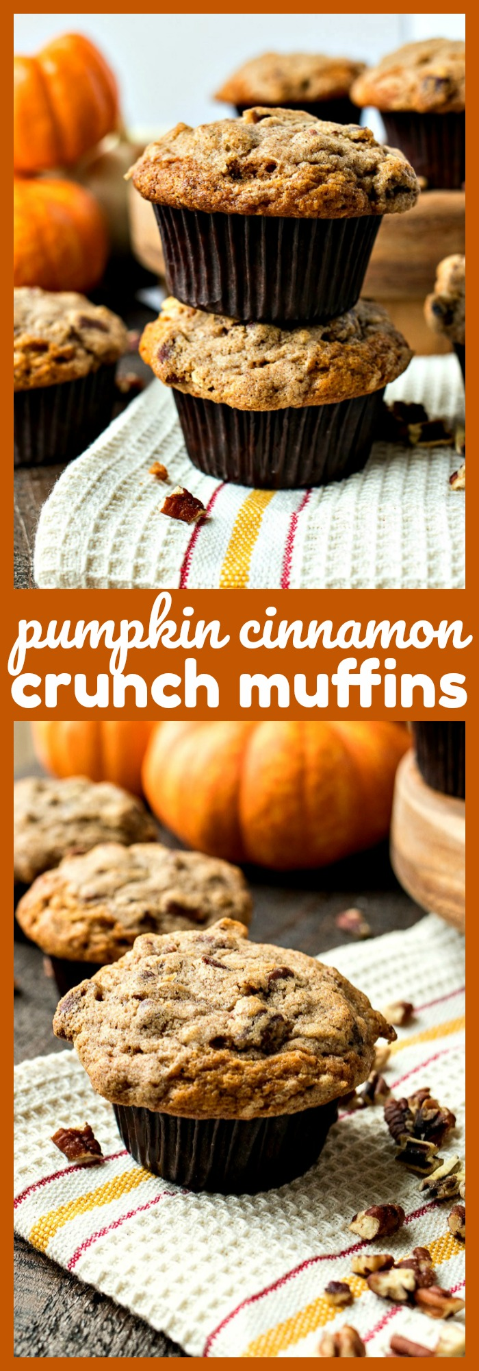 Pumpkin Cinnamon Crunch Muffins photo collage