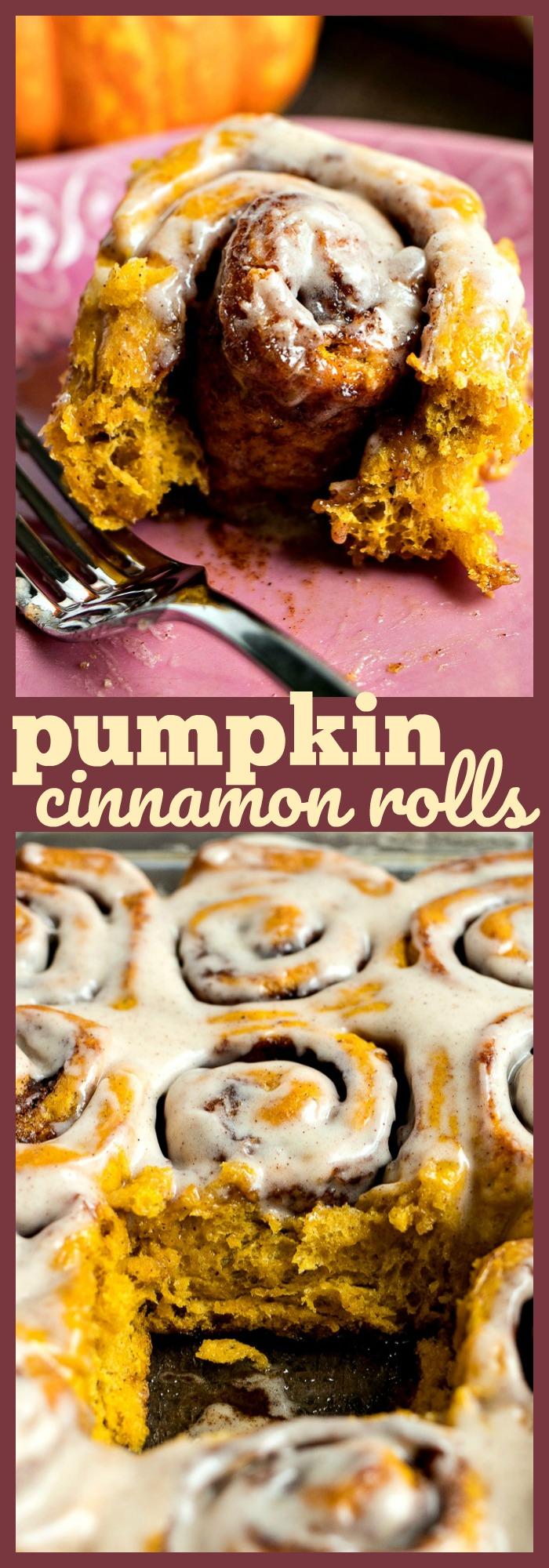 Pumpkin Cinnamon Rolls photo collage