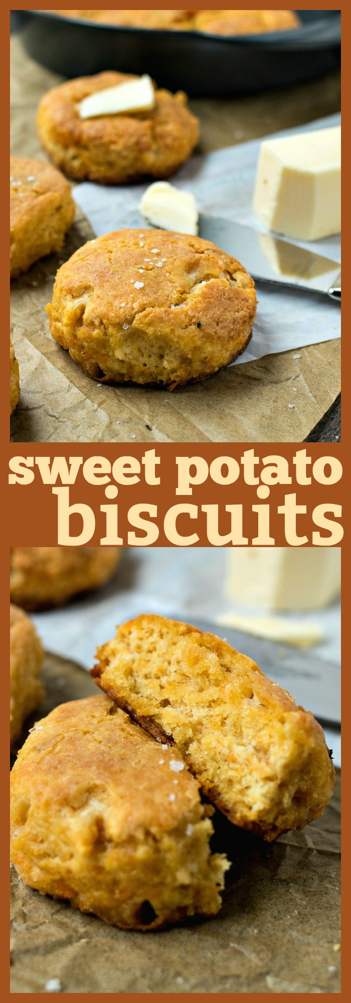 Sweet Potato Biscuits photo collage