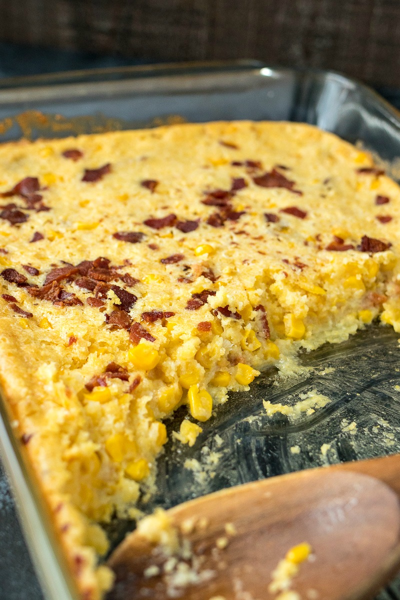 pan of Bacon Corn Casserole