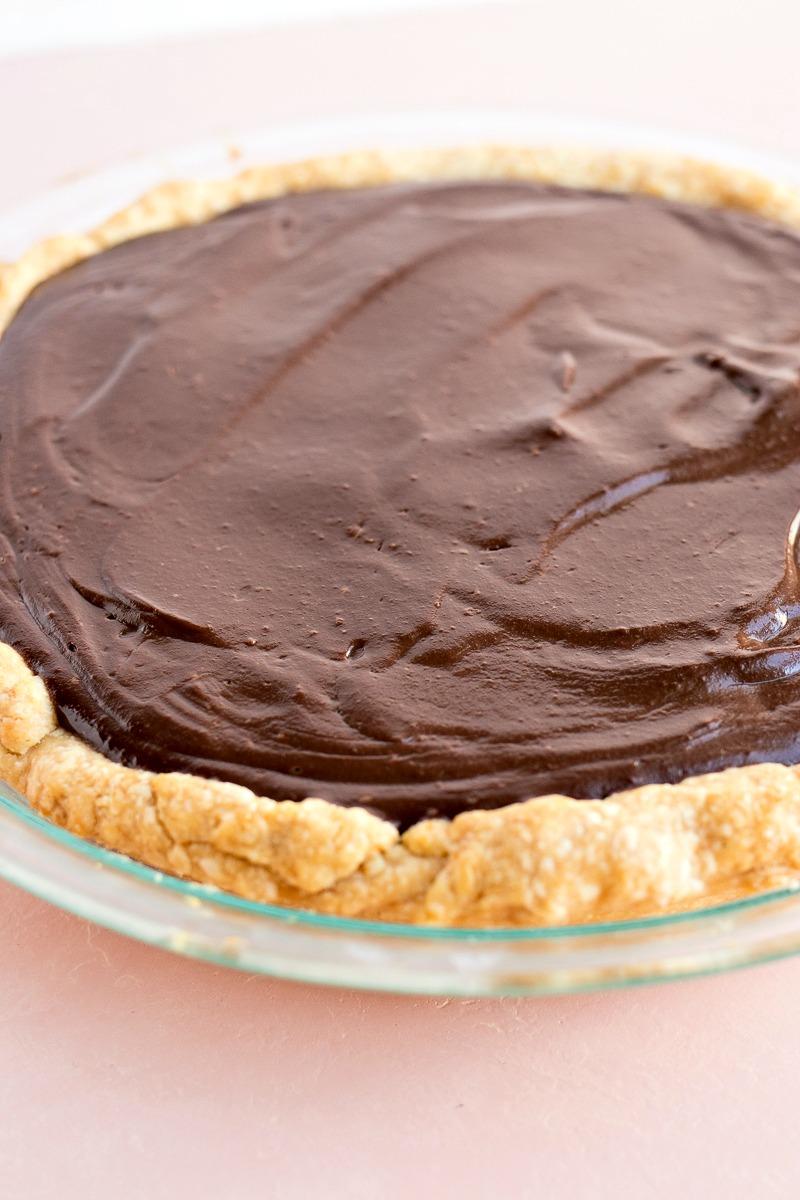 Closeup of Chocolate Cream