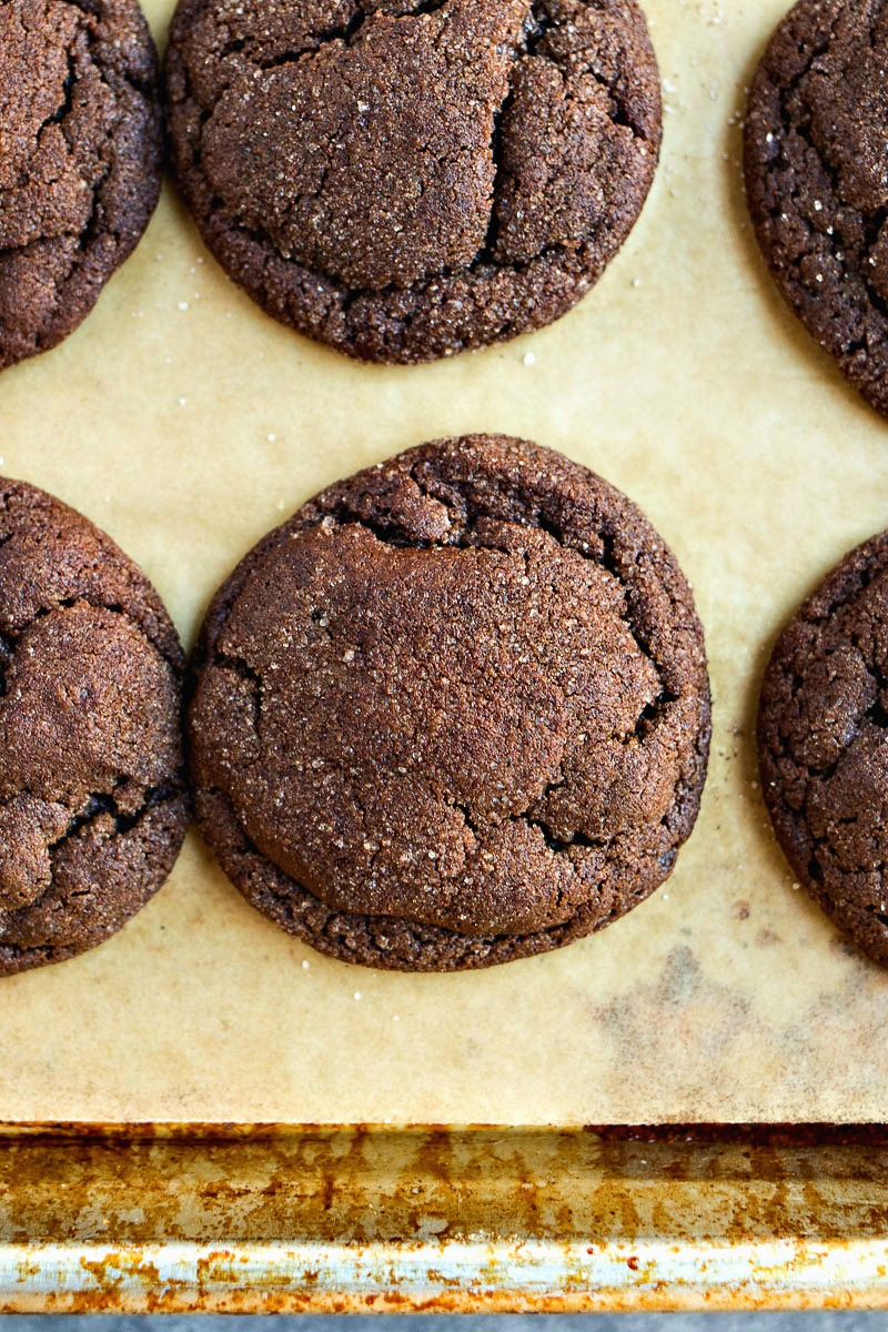 Closeup of Chocolate Snickerdoodles