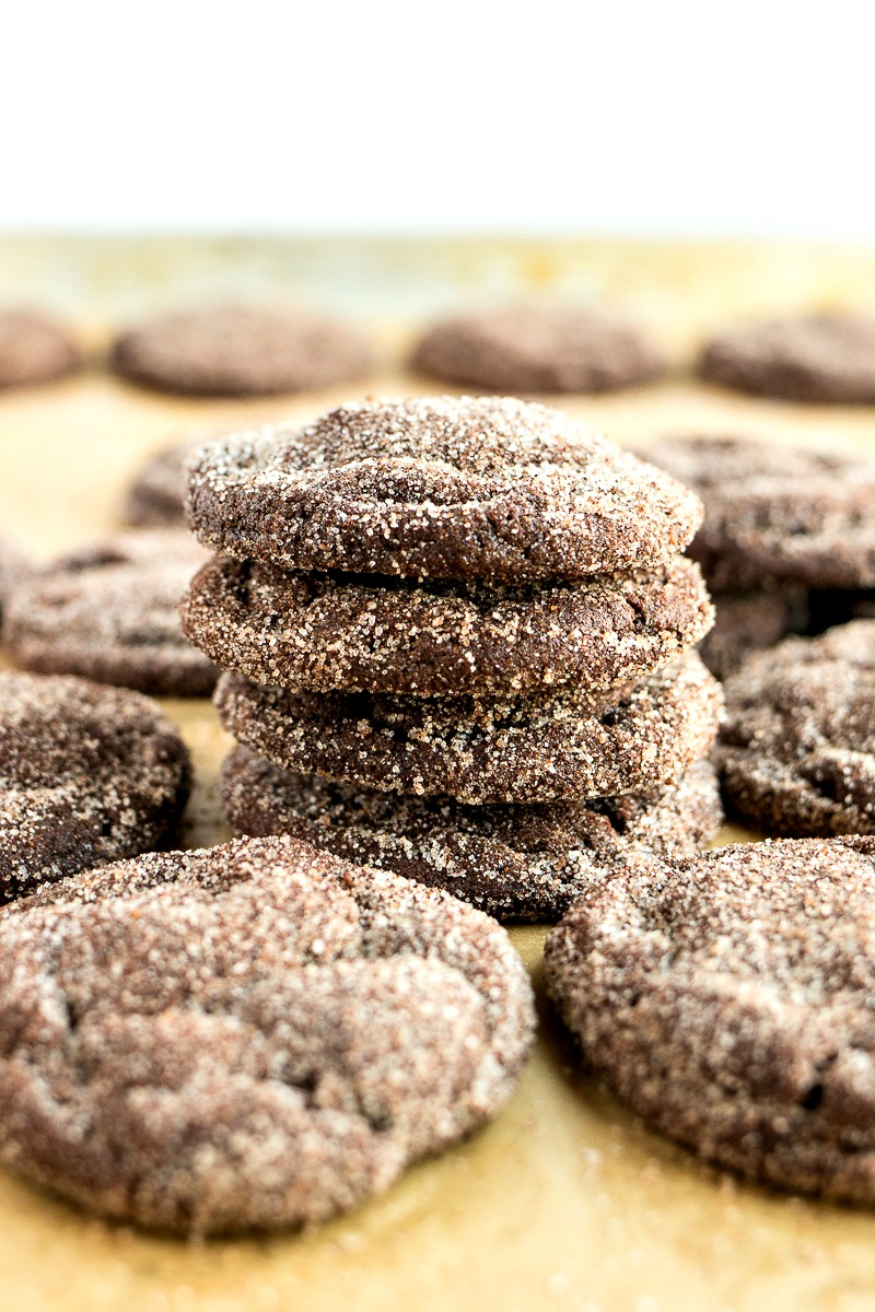 Stack of Chocolate Snickerdoodles