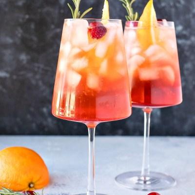 Cranberry Orange Aperol Spritz