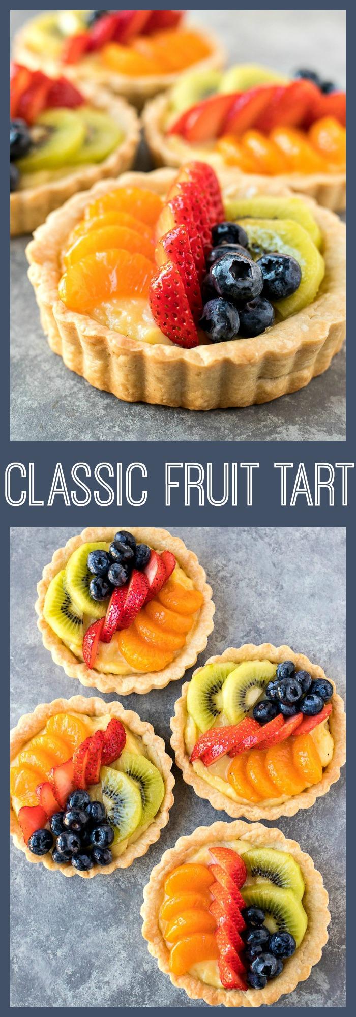 Classic Fruit Tarts photo collage