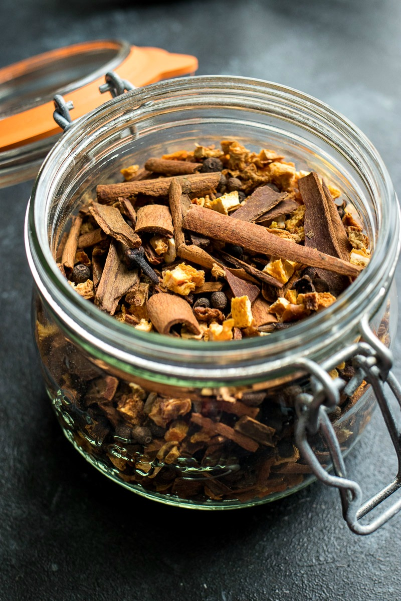 Jar full of mulling spices