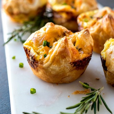 Sausage, Egg, & Cheese Pastry Muffins