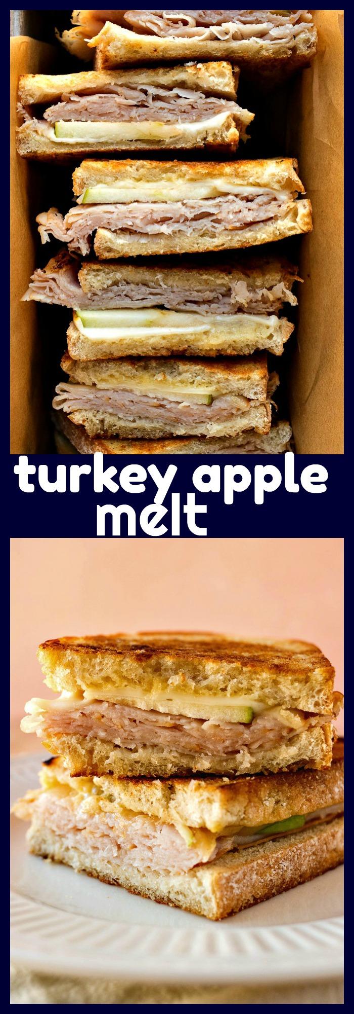 Turkey Apple Melt photo collage