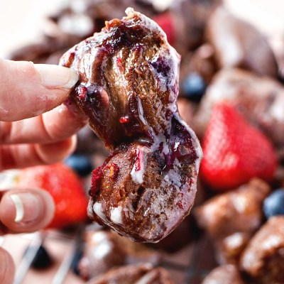 Chocolate Berry Fritters