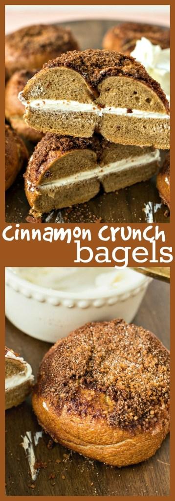 Cinnamon Crunch Bagels photo collage