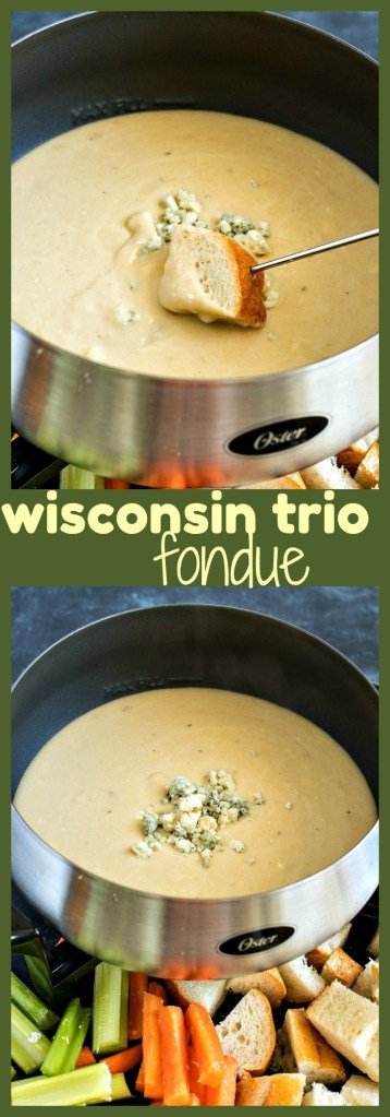 Wisconsin Trio Cheese Fondue photo collage