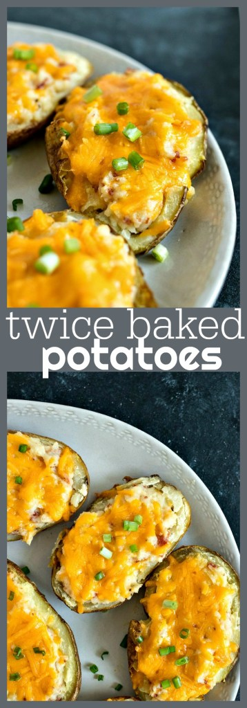 twice baked potatoes photo collage