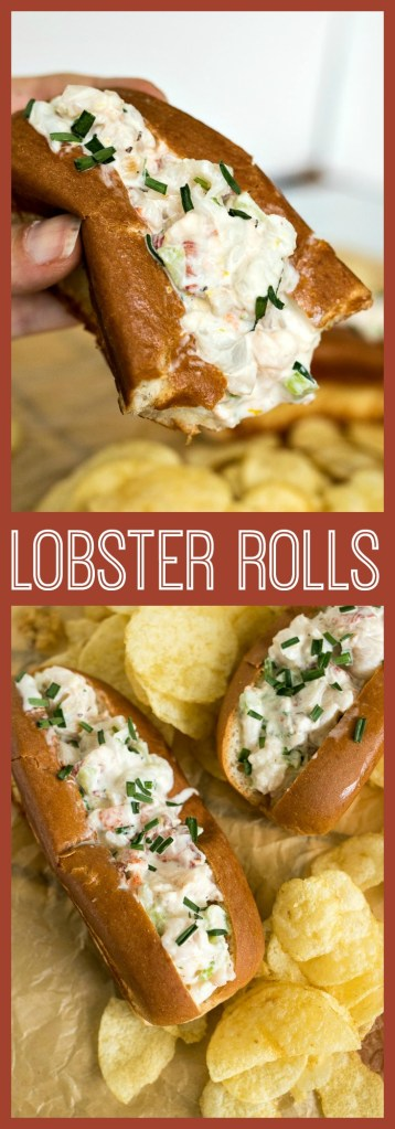 Lobster roll photo collage
