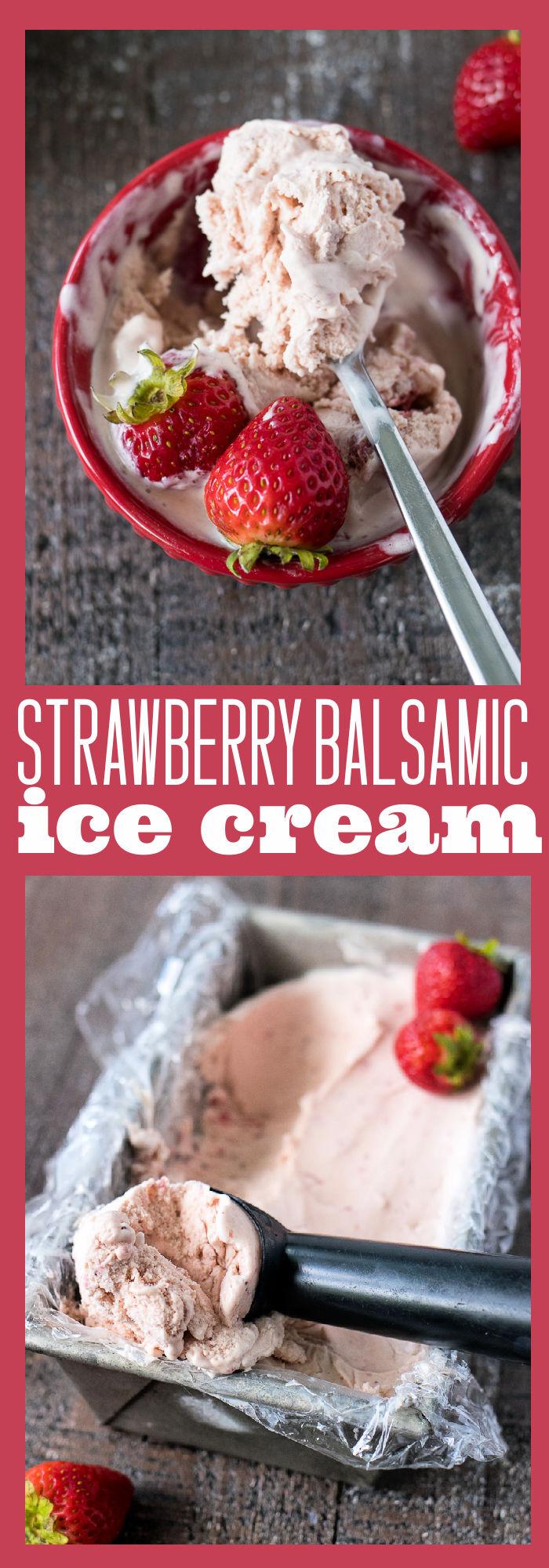 Strawberry Balsamic Ice Cream photo collage