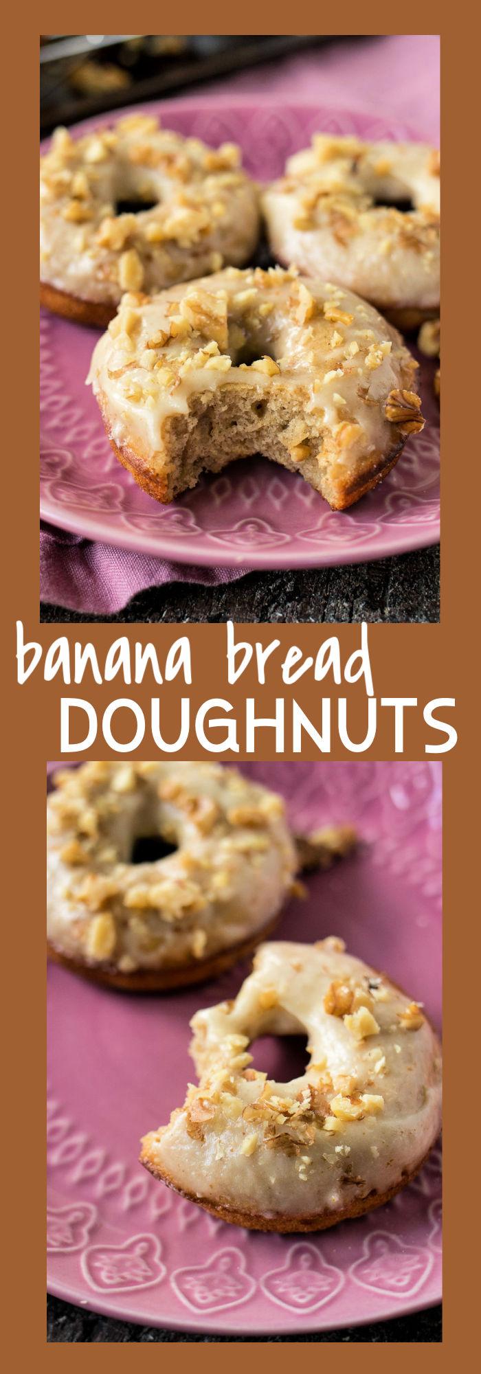 Banana Bread Doughnuts photo collage