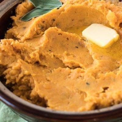 Sage & Brown Butter Mashed Sweet Potatoes