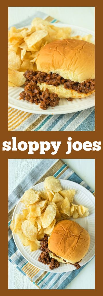 collage of sloppy joes pictures with descriptive text