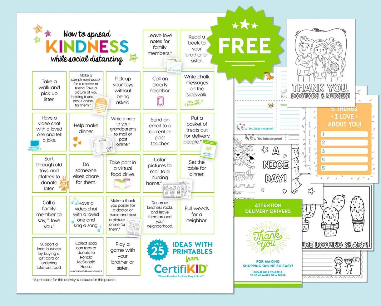 Deal Free Printable Packet 25 Ways To Spread Kindness