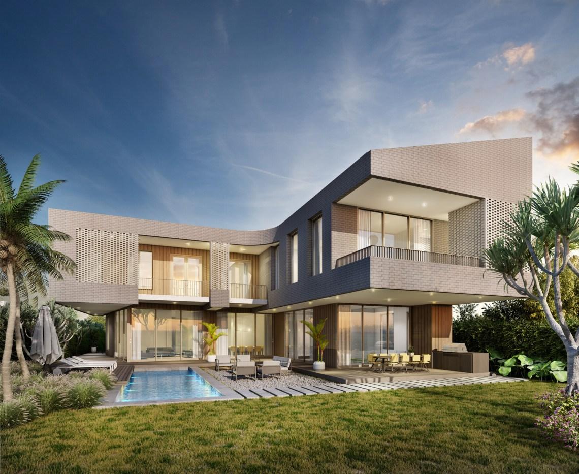 3d Exterior Design of Villa